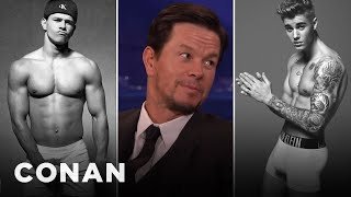 Mark Wahlberg: Justin Bieber Sent Me His Calvin Klein Ad  - CONAN on TBS
