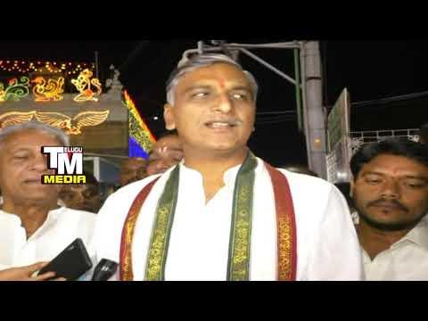 Telugu states should prosper with Balaji blessings: Harish Rao
