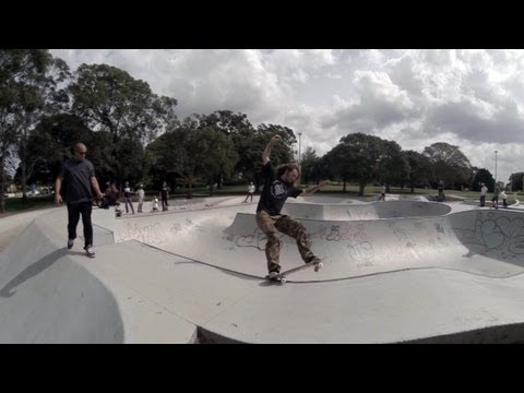 3D GoPro skateboarding - Five Dock Bowl Hero3 Vs Hero2 3D Comparison