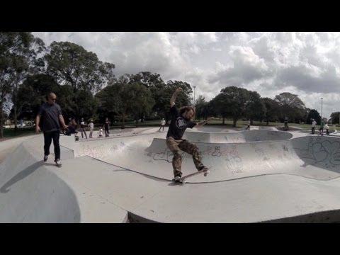 3D GoPro skateboarding - Five Dock Bowl Hero3 Vs Hero2 3D Comparison