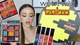 WET N WILD x PAC-MAN Collection | TRY ON REVIEW