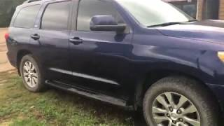 Old Start Cold Start Toyota Sequoia 2008
