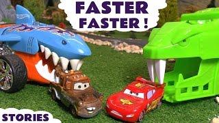 Disney CARS Racing Stories with McQueen & Hot Wheels Shark Dinosaur and Avengers TT4U