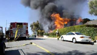 Burning house anaheim california 2011 part 1