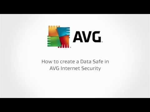 How to create an AVG Data Safe to protect sensitive files