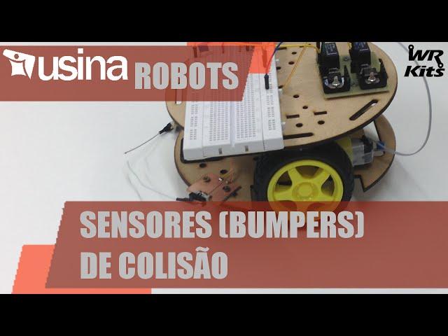 SENSORES (BUMPERS) DE COLISÃO | Usina Robots #009