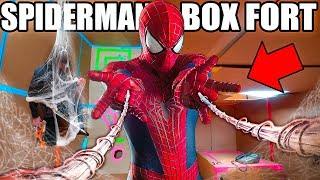 SPIDER MAN BOX FORT BASE!! 📦🕷 Spiderman Adventure, Nerf, Gadgets & More!