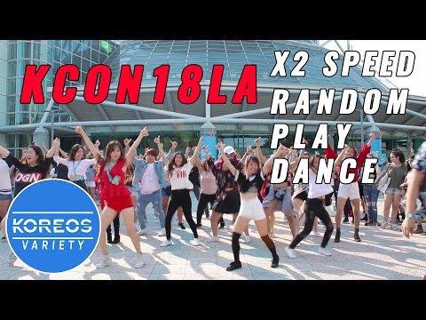 [K-POP IN PUBLIC] 2X Speed Random Play Dance Challenge at KCON18LA