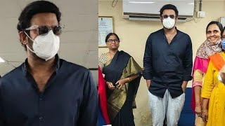 Baahubali hero Prabhas spotted wearing mask at RTA office,..