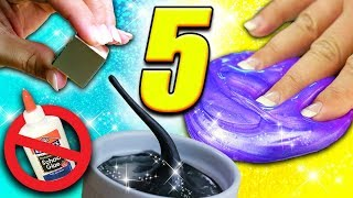 Testing 5 Crazy Slime Recipes WITHOUT Glue! Magnetic, Shampoo, Fluffy