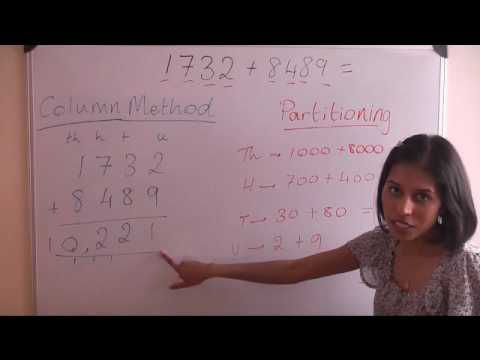 Partitioning Method Addition Of 4 Digits Key Stage 2