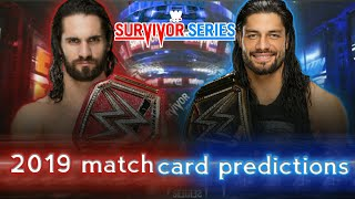 Survivor series 2019 match card predictions....