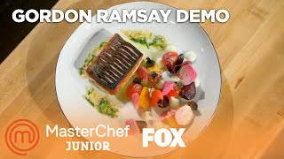 Gordon Ramsay's Pan Roasted Sea Bass With Cauliflower Puree | Season 5 | MASTERCHEF JUNIOR