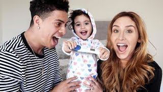 MOMMY AND DAUGHTER SURPRISE DADDY WITH PREGNANCY ANNOUNCEMENT!!! (SPEECHLESS)