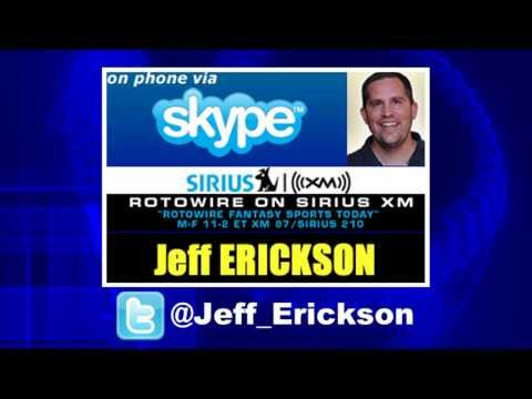 Episode 77: Fantasy Expert Jeff Erickson from Rotowire and SiriusXM