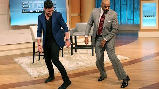 Steve Harvey Shows Off His Dance Moves
