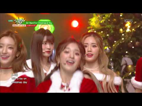 뮤직뱅크 Music Bank - All I Want For Christmas Is You (원곡 Mariah Carey)-프로미스나인(fromis_9).20181221