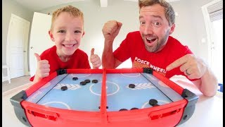 FATHER SON SLINGSHOT HOCKEY! / Clear The Pucks!