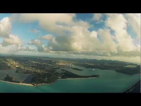 Flying over Antigua (Cockpit View)