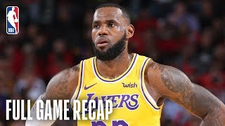 LAKERS vs TRAIL BLAZERS   LeBron Scores 26 Points In Lakers Debut   October 18, 2018