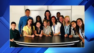 Local 10 News anchor Laurie Jennings visits Broward students