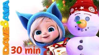 🎄On Christmas Day | Christmas Songs for Kids: Jingle Bells, Christmas Time, SANTA from Dave and Ava🎉