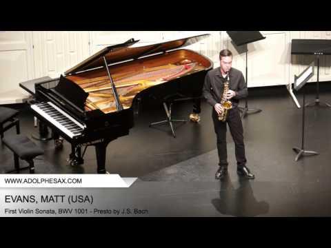 Dinant 2014 - Evans, Matt - First Violin Sonata, BWV 1001 - Presto by J.S. Bach