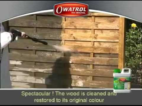 Owatrol Net trol   The best way to restore weathered wood to its original colour