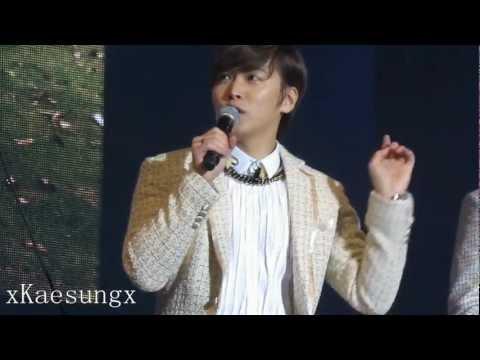 130119 Super Junior M FanMeeting Nanjing - MC Sungmin 3:45 KyuMinmoment