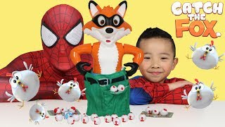 CATCH THE FOX Fun Kids Games With Spiderman And Ckn Toys