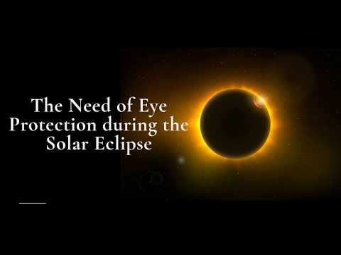 The Need of Eye Protection during the Solar Eclipse