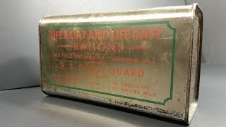 1945 Lifeboat & Liferaft Rations MRE Review USCG & Navy Survival Food Taste Testing