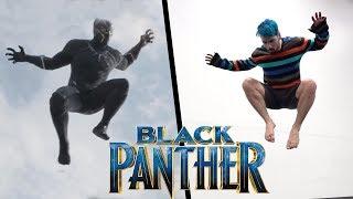 Black Panther Stunts In Real Life (Parkour, Tricking, Tumbling)