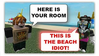ROBLOX Trolling at the FAKE Hilton Hotels 2