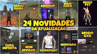 24 NOVIDADES DA NOVA ATUALIZAÇÃO DE OUTUBRO FREE FIRE