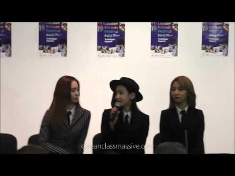 F(x) Press Conference - London Korean Festival 2015