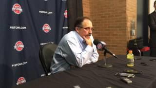 Stan Van Gundy reacts to Pistons' 115-114 win over Hornets