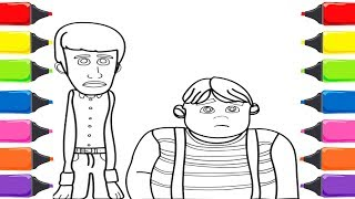 Rafadan Tayfa Kamil çizgi Film Karakteri Boyama Renkleri