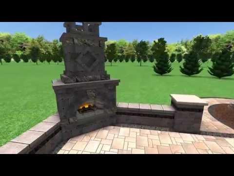 Brick Paver Patio Fireplace Troy MI