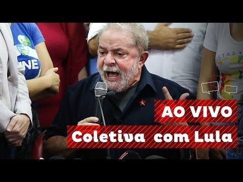 Coletiva com o ex-presidente Lula