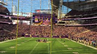 Skol Chant  Green Bay Packers at Minnesota Vikings   10-15-2017