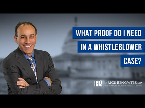 DC Whistleblower Lawyer Tony Munter discusses important information you should know if you think you have a whistleblower case. It is not necessary to have proof in order to file a whistleblower case. However, the more information you have, and the more specific information you have regarding the alleged fraud, the better.