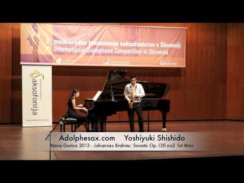 Yoshiyuki Shishido - Nova Gorica 2013 - Johannes Brahms: Sonata Op 120 no2 1st Mov