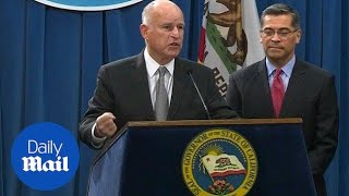 California Governor Jerry Brown fires back at Jeff Sessions - Daily Mail