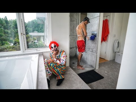FUNNY CLOWN SHOWER PRANK ON TWIN BROTHER!