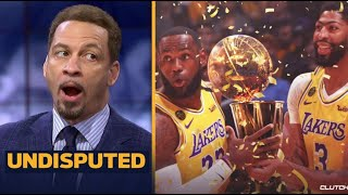 """UNDISPUTED   Chris Broussard """"Excited"""" LeBron, AD leads Lakers def Kawhi, Clippers 103-101"""