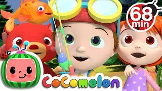 12345 Once I Caught a Fish Alive | +More Nursery Rhymes & Kids Songs - Cocomelon (ABCkidTV)
