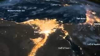 وكالة ناسا تلتقط صور غريبة لمصر من الفضاء الخارجى ...