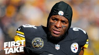 Is Le'Veon Bell petty for liking Instagram post on the Steelers loss? l First Take