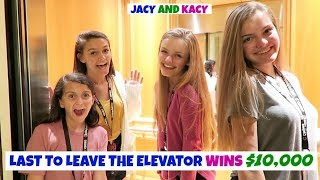 Last to Leave the Elevator Wins $10,000 Challenge ~ Jacy and Kacy